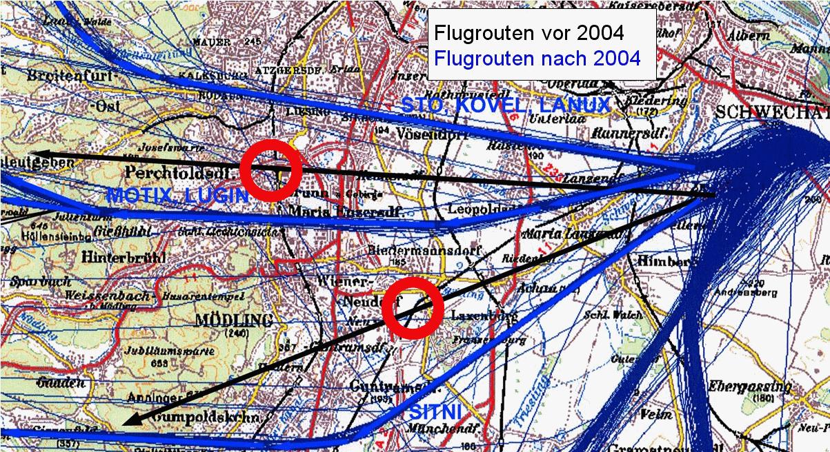 Flugschneisen Frankfurt